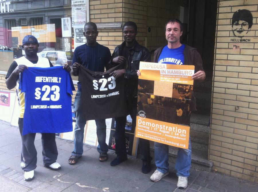 """Aktivisten von """"Lampedusa in Hamburg"""" zu Gast bei der Karawane Wuppertal – August 2013"""